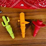 3 Piece Cowboy Bottle Stopper Set