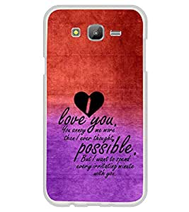 ifasho Love Quotes for love Back Case Cover for Samsung Galaxy On 7