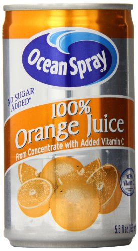 Ocean Spray 100% Orange Juice, 5.5 Ounce (Pack of 48) (Can Orange Juice compare prices)