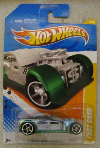 2011 Hot Wheels Fast Cash New Models 7/244 Gray Green First Edition