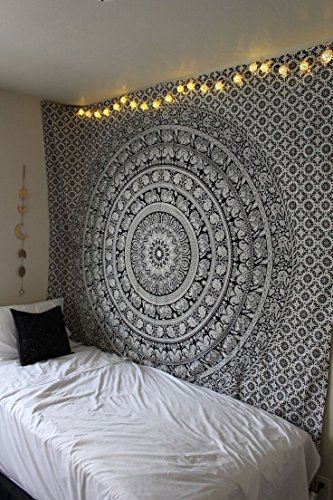 labhanshi-90-x-90-inch-elephant-mandala-indian-traditional-hippie-cotton-tapestry-black-and-white-qu
