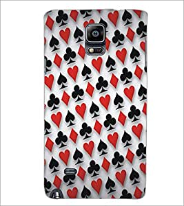 PrintDhaba Cards D-5358 Back Case Cover for SAMSUNG GALAXY NOTE 2 (Multi-Coloured)