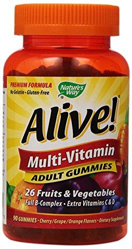 Nature'S Way Alive Adult Multi-Vitamin Gummies, 90 Count