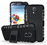 [Diablo] JKase Samsung Galaxy S5 Case Protective [Ultra Fit] Tough Rugged Dual Layer Protection Case Cover with Build in Stand for Galaxy S5 / Galaxy SV / Galaxy S V (2014) - Retail Packaging (Black)