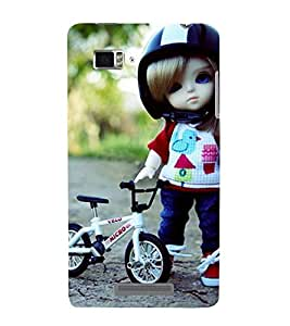 Vizagbeats cycle and doll Back Case Cover for Lenovo Vibe Z K910