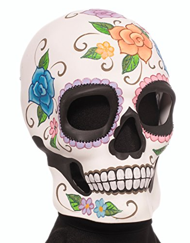 Adult White Day of the Dead Mexican Male Skull Mask