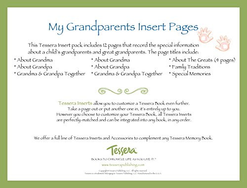 Tessera Baby Books Baby Memory Book Insert Pack, About Baby's Grandparents - 1