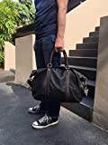DR Leather Travel Duffel Weekend Bag - Luggage Carry-On Weekender For Men Women (Black)