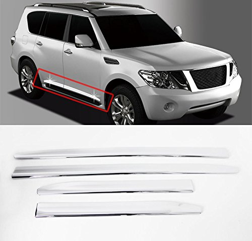 Sell by Automotiveapple, Chrome Side Skirt Line Door Garnish Molding Trim 4-pc Set For 2010-2015 Nissan Patrol (Nissan Patrol 2014 compare prices)