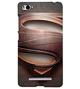 PRINTSHOPPII SUPERMAN FAN Back Case Cover for Xiaomi Redmi Mi4i::Xiaomi Mi 4i