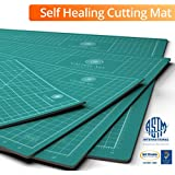 Self Healing Cutting Mat, Best with Rotary & Exacto Cutter, 24x36, Inches & cm, Odorless (Not From China), Free Extended Warranty Backed By Amazon Guarantee