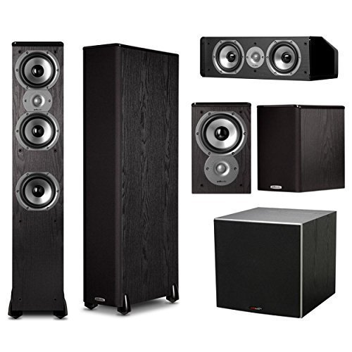 Polk Audio TSi400 5.1 Home Theater Speaker System Bundle (Black)