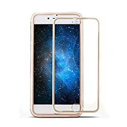 ivolks iPhone 6S Screen Protector, iPhone 6 Glass Screen Protector - [Tempered Glass] Ultra-clear Glass Screen Protector Perfect Fit For 4.7 Inch iPhone 6 / 6S Screen Guard (Gold)