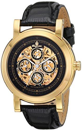 Burgmeister Alexandria BM129-222 - Reloj unisex automático, correa de piel color negro
