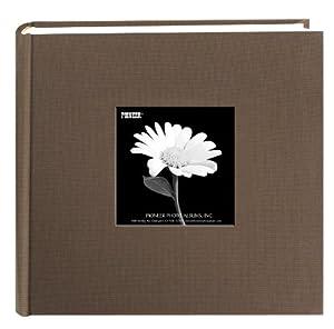 Pioneer Photo Albums Pioneer 200 Pocket Fabric Frame Cover Photo Album, Warm Mocha