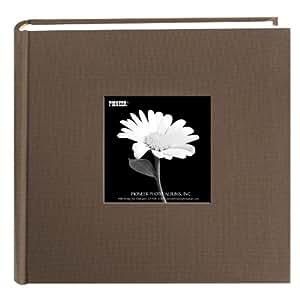 Pioneer 200 Pocket Fabric Frame Cover Photo Album, Warm Mocha