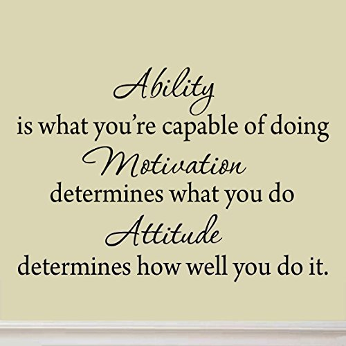 Ability is What You're Capable of Doing Inspirational Adversity Wall Decal Quote Sports Saying