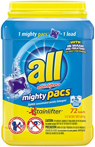 All Mighty Pacs Laundry Detergent, Stainlifter, Tub, 72