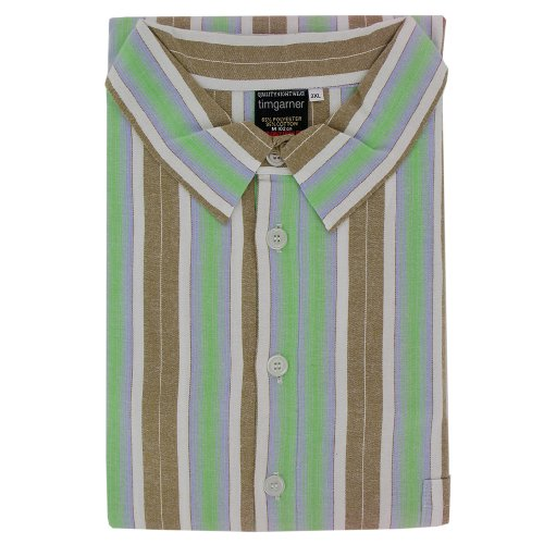 Men's Nightshirts - Fawn Stripe - Sizes Up To 6XLarge
