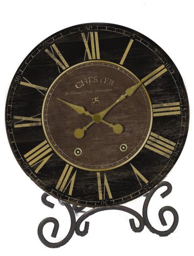 Infinity Instruments The Parlor - Chester Black & Gold Table Clock