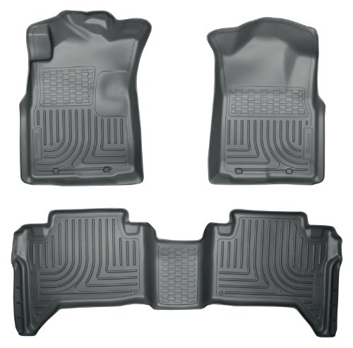 Husky Liners Custom Fit Front and Second Seat Floor Liner Set for Select Honda Accord Models Grey
