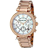 Michael Kors Parker Chronograph Rose Gold-tone Ladies Watch MK5491