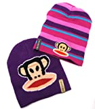 Paul Frank Julius Monkey Glue Print Reversible Beanie Hat for Toddlers Girls