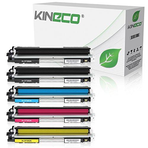5 Toner kompatibel zu HP CF350A CF351A CF352A CF353A für HP Color LaserJet Pro