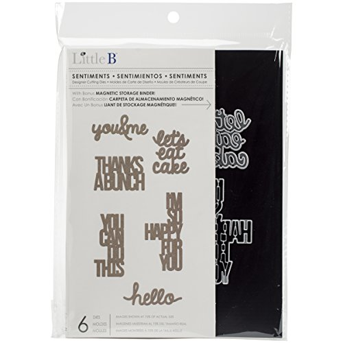 Little B 100591 6 Piece Sentiments Cutting Dies (Little B Magnetic Storage Binder compare prices)