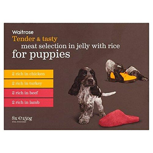 oferta-publica-y-seleccion-de-carne-sabrosa-en-la-jalea-con-el-arroz-para-cachorros-waitrose-8-x-150