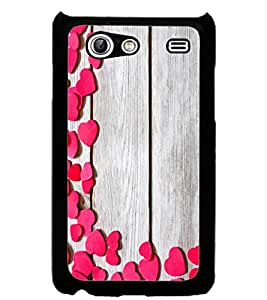 ColourCraft Beautiful Hearts Pattern Design Back Case Cover for SAMSUNG GALAXY S ADVANCE I9070