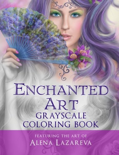 Download Enchanted Art Grayscale Coloring Book: For Grown-Ups, Adult Relaxation