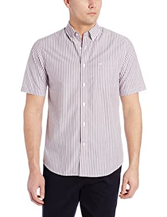 Dockers men 39 s short sleeve no wrinkle button down collar for Wrinkle free dress shirts amazon