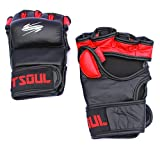 SportSoul MMA Gloves with Padded Thumb, Size - Small