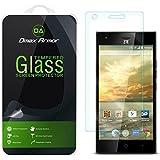 ZTE Warp Elite Glass Screen Protector, Dmax Armor® Ballistics [Tempered Glass] 99% Touch-screen Accurate, Anti-Scratch, Anti-Fingerprint, Round Edge [0.3mm] Ultra-clear - Retail Packaging