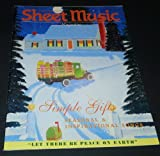 img - for Sheet Music Magazine November/December 2001. Simple Gifts, Seasonal & Inspirational Songs Issue.....Volume 25 No.6 book / textbook / text book