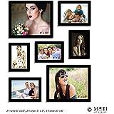"7 Pc Black Photo Frame Wall Collage, 2Pc 8"" X 10"", 2Pc 5"" X 7"", 3Pc 4"" X 6"""