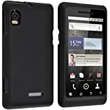 Insten® Two Rubberized Hard Case Compatible with Motorola A955 Droid 2, Black