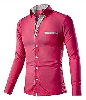 DD.UP Men's Cotton Long Sleeve Slim Fit Casual Dress Shirt
