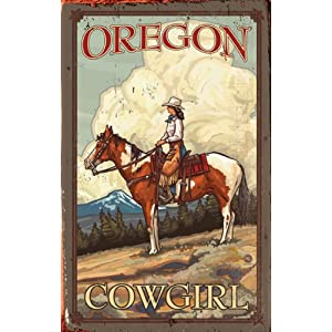 Cowgirl Decor - planked wood sign