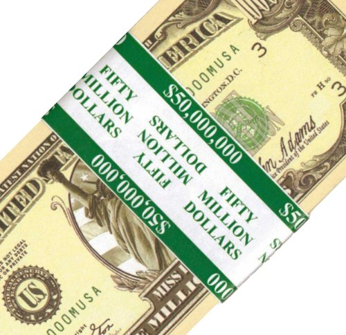 50 count Banded Novelty Miss Liberty Million Dollar Bills