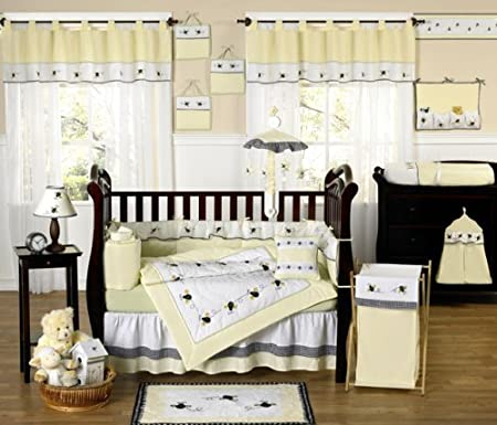 Yellow Bumble Bee Crib Bedding Set