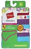 Hanes Classics Girls P4 Cotton Cotton Stretch Bikini GNKHB4 thumbnail