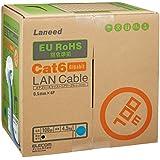 ELECOM LANケーブル CAT6 RoHS指令準拠 100m(リール巻)ブルー  LD-CT6 BU100 RS