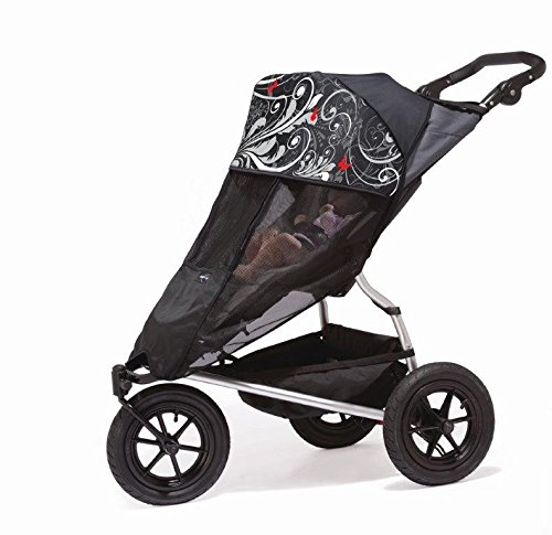 Outlook Shade A Babe: Stroller Cover Sun Sleep Shade, Mesh UV Protection - Butterfly's - 1