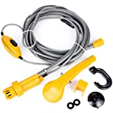 Shower Head, Outdoor Wireless Portable USB Rechargeable Shower Water Pump Camp Hiking Car Van By Ikevan (Color: yellow, Tamaño: Approx. 13x8x6cm/ 5.12x3.14x2.36