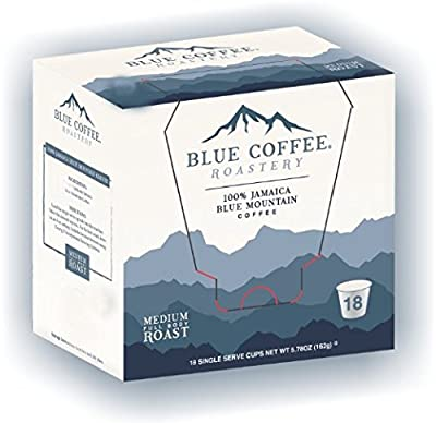 Blue Coffee Roastery Genuine Jamaica Blue Mountain Coffee K-Cups for Keurig Brewers (18-count) (Packaging may vary)