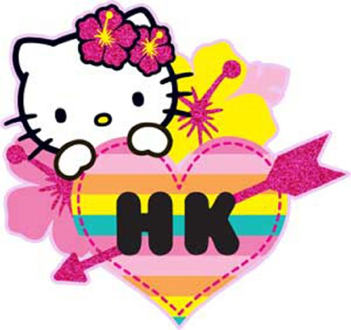 Licenses Products Hello Kitty Hawaii Glitter Sticker