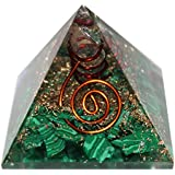 FairyBells Kart Energised Malachite Orgonite Pyramid FBKAC153