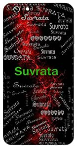 Suvrata (Strict In Religious Vows (Subrata)) Name & Sign Printed All over customize & Personalized!! Protective back cover for your Smart Phone : Samsung Galaxy Note-3